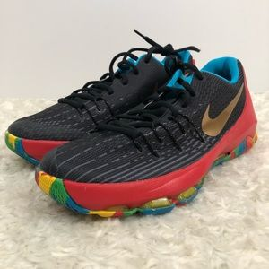 Nike KD 8 Moneyball multicolored shoe size 6Y